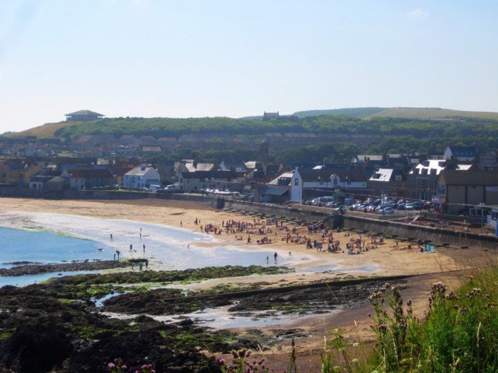 Looking south to Eyemouth town and beach