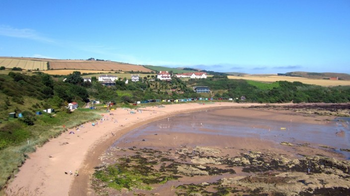 View across Coldingham Bay