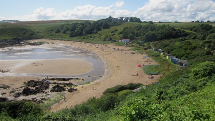 The beach at Coldingham Sands