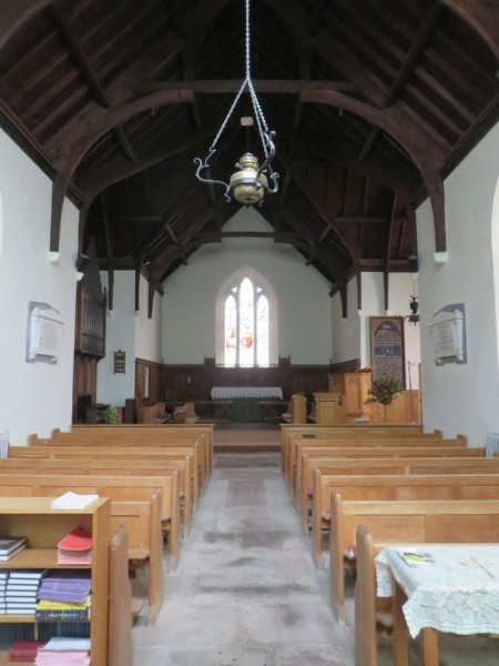 Inside St Mary's, Thornthwaite