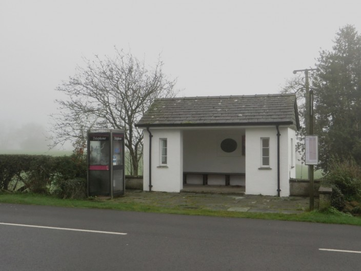 Bus stop in Thornthwaite