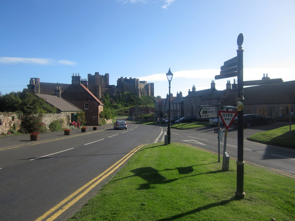 The centre of Bamburgh