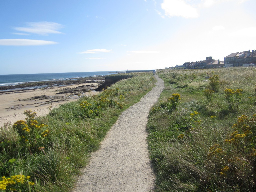 Cliff top path at Seahouses