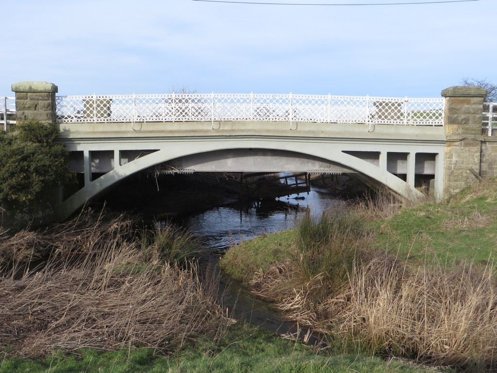 An ornate bridge over the Waren burn