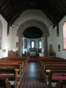 The interior of St Hilda's Church, Lucker