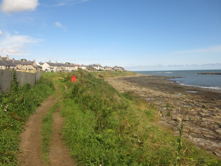 The Northumberland Coast Path at Craster
