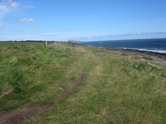 The coastal footpath at Cullernose Point