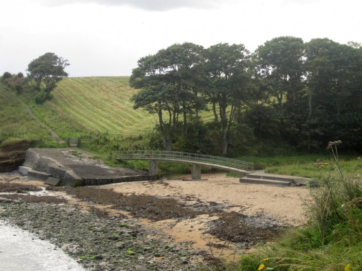 The mouth of Howick Burn