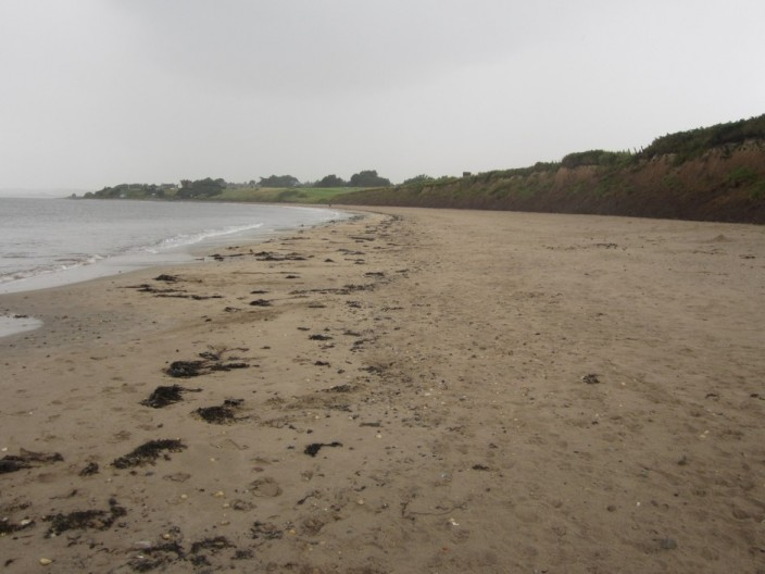 The beach south of Seaton House