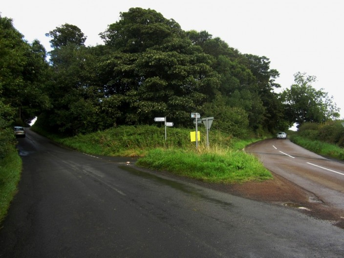 Road junction east of Foxbury House