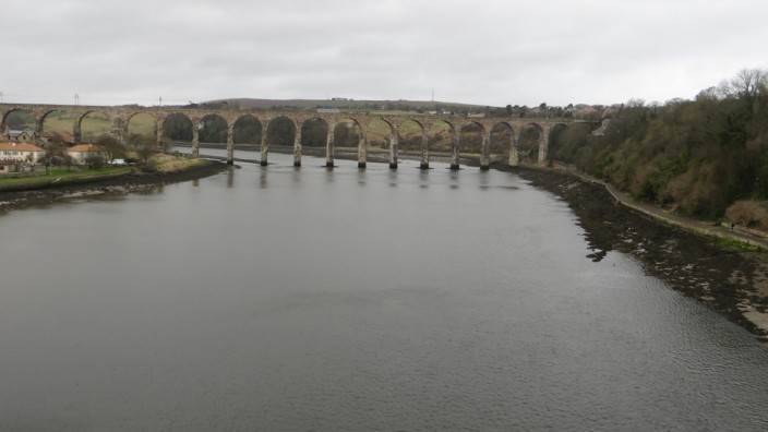 View upstream from the Royal Tweed Bridge