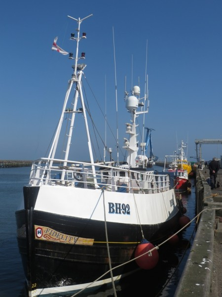 Fishing boat at Amble