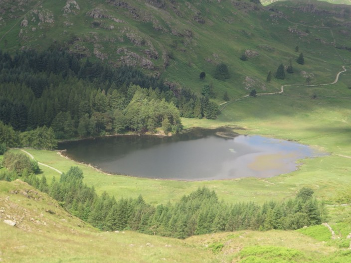 View down to Blea Tarn