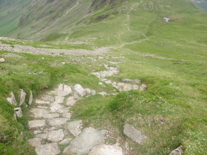 stone pitched path