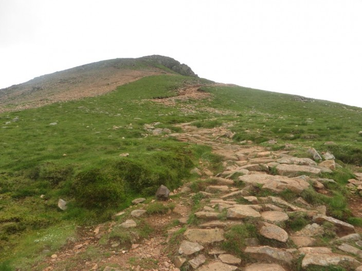 Footpath ascending Red Pike from Buttermere